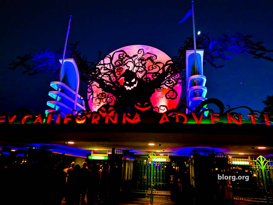 california adventure halloween gate