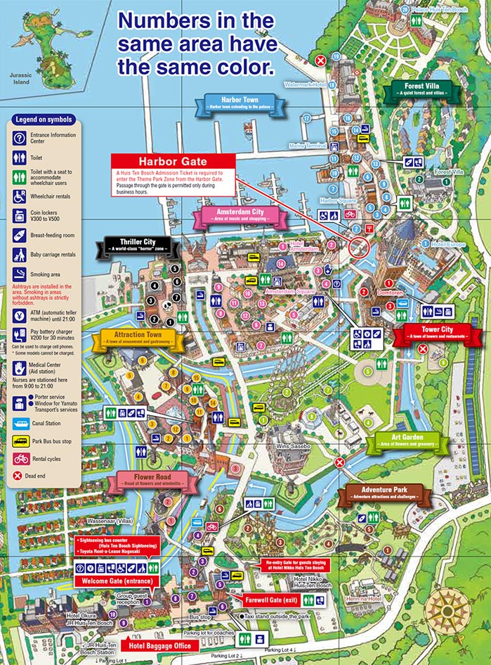 map of huis ten bosch
