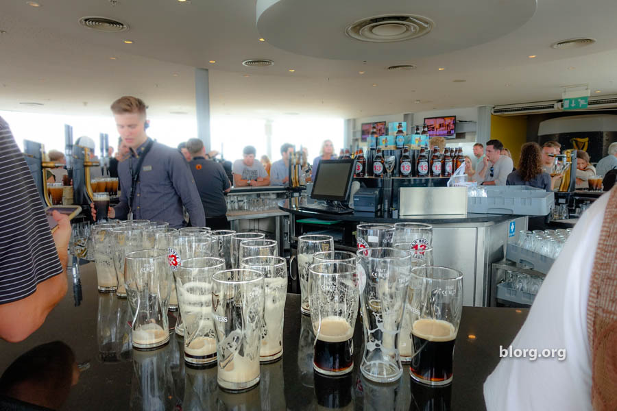 empty guinness glass