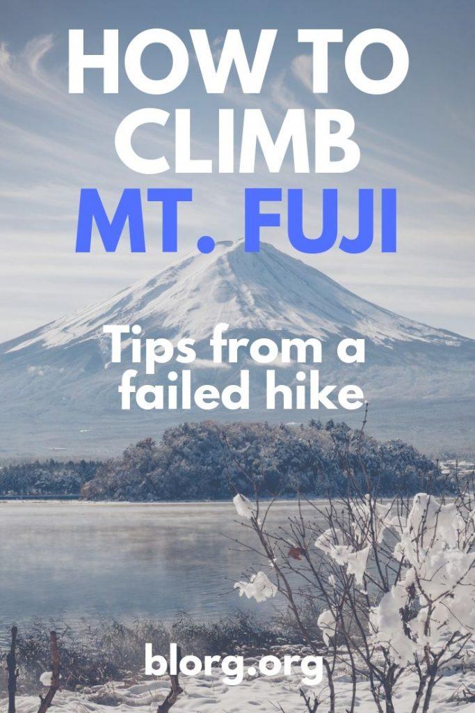 mt fuji climbing tips